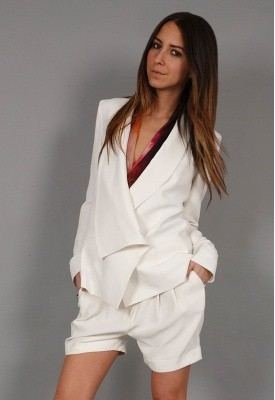 HAUTE HIPPIE WHITE DOUBLE BREASTED JACKET. TO DIE FOR.
